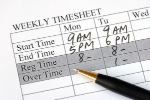 Loenadministration-timeseddel